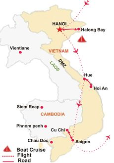 Vietnam Tour Map